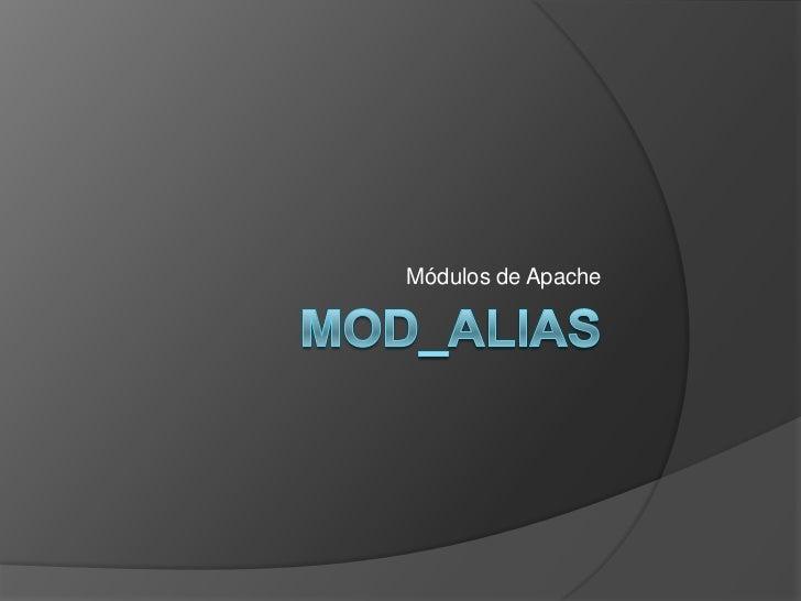 Módulos de Apache