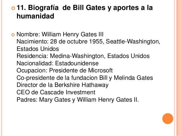    Creó la empresa de software Microsoft el 4 de abril de    1975, siendo aún alumno en la Universidad Harvard. Así    es...