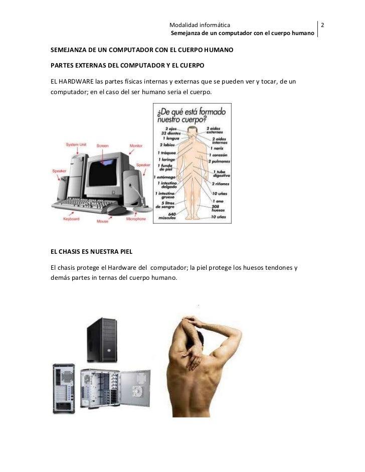 semejanza del computador al cuerpo humano
