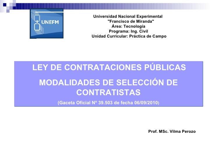 """Universidad Nacional Experimental  """"Francisco de Miranda"""" Área: Tecnología Programa: Ing. Civil  Unidad Curr..."""