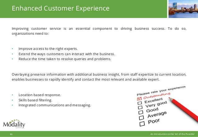 Enhanced Customer Experience Improving customer service is an essential component to driving business success. To do so, o...