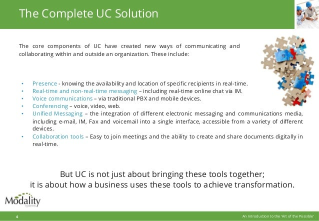 The core components of UC have created new ways of communicating and collaborating within and outside an organization. The...