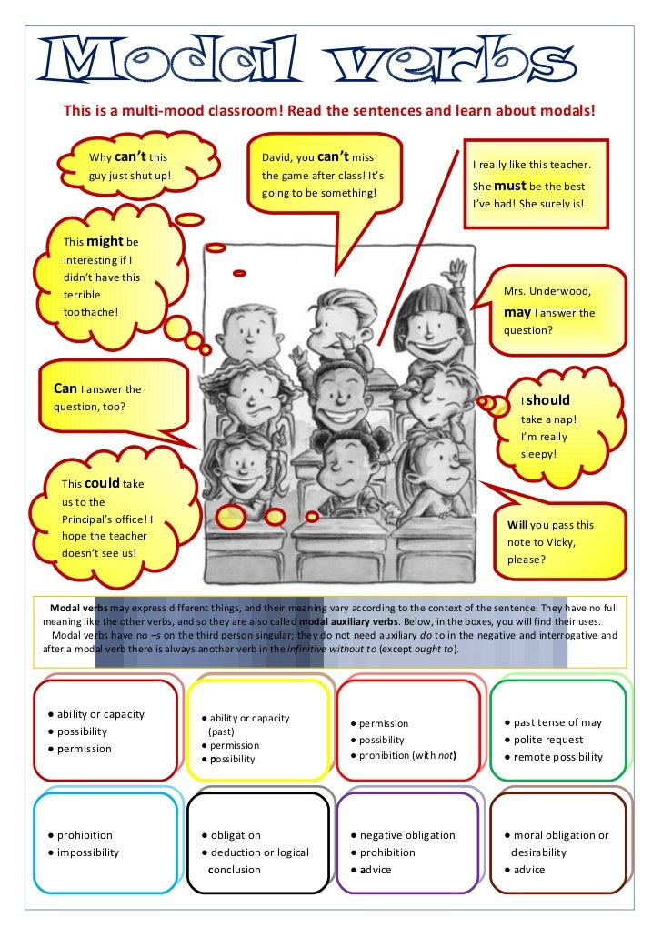 This is a multi-mood classroom! Read the sentences and learn about modals!          Why can't this                        ...