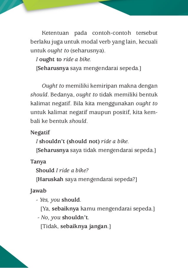 Modals Dalam Bahasa Inggris