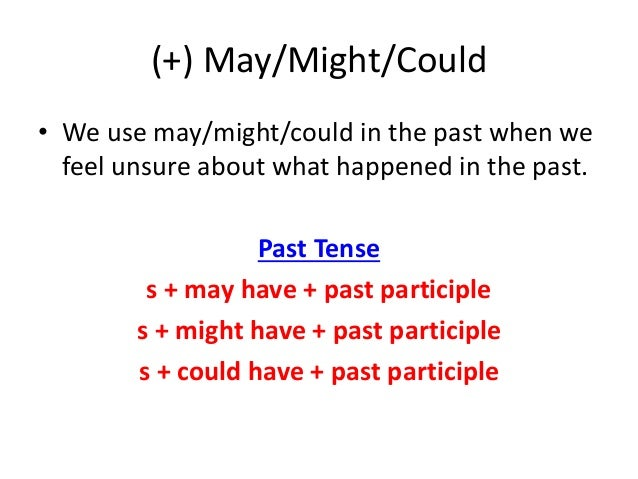 could past tense