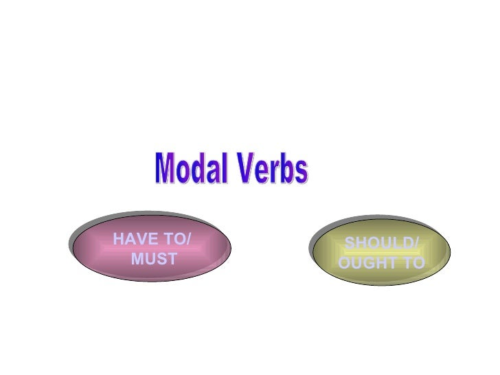 Modal Verbs HAVE TO/  MUST SHOULD/ OUGHT TO