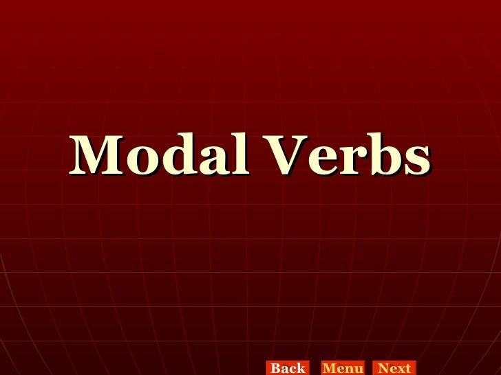 Modal Verbs Back Menu Next