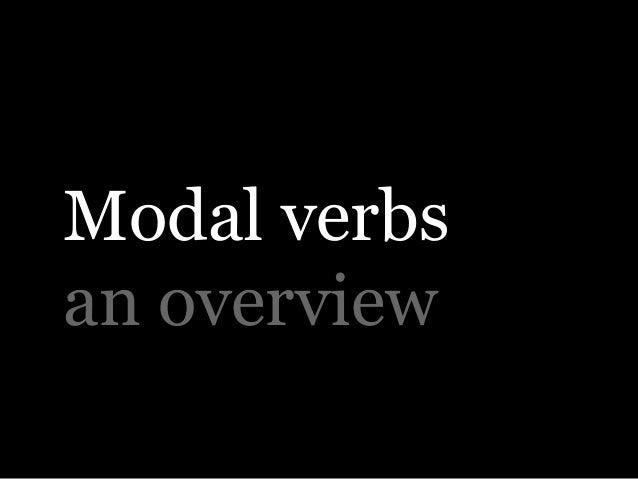 Modal verbs an overview