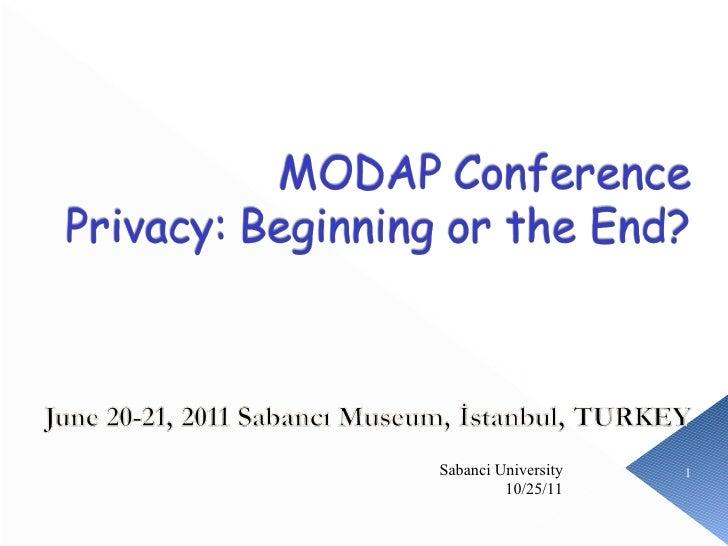 10/25/11 Sabanci University