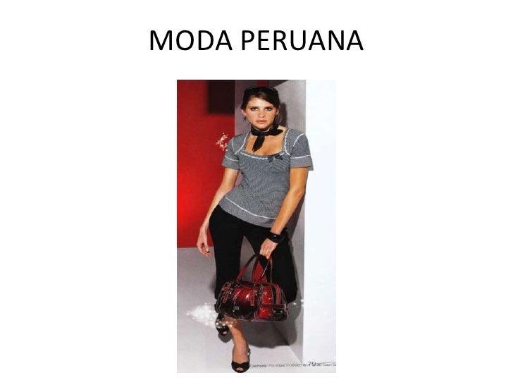 MODA PERUANA<br />