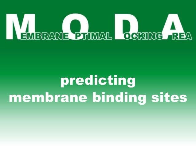 predicting membrane binding sites