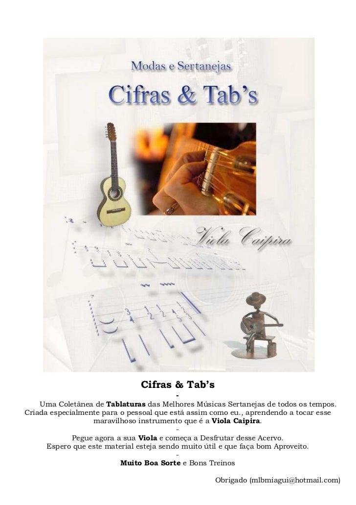 Cifras & Tab's                                        -    Uma Coletânea de Tablaturas das Melhores Músicas Sertanejas de ...