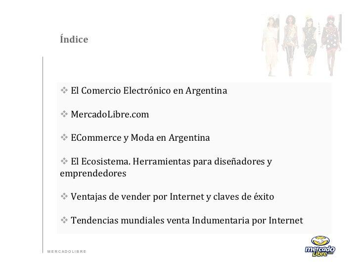 Índice   vEl Comercio Electrónico en Argentina          vMercadoLibre.com          vECommerce y ...