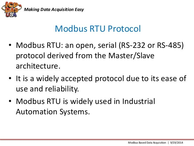 Simple Data Acquisition System : Modbus based data acquisition