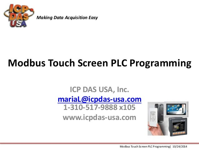 Modbus Touch Screen PLC Programming