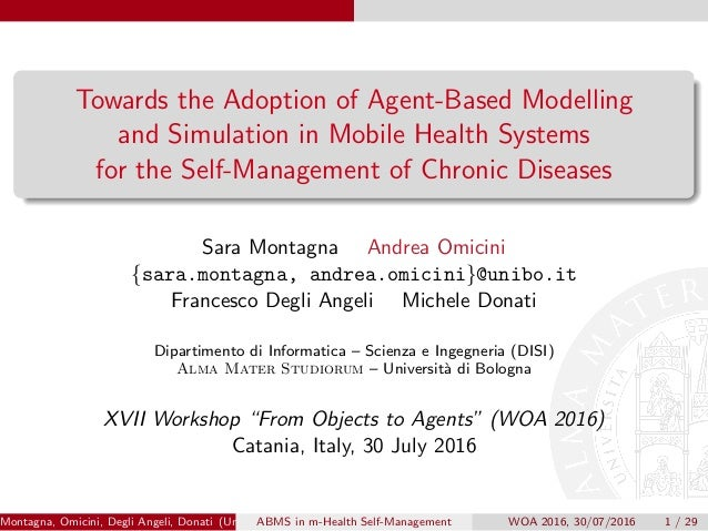 Towards the Adoption of Agent-Based Modelling and Simulation in Mobile Health Systems for the Self-Management of Chronic D...
