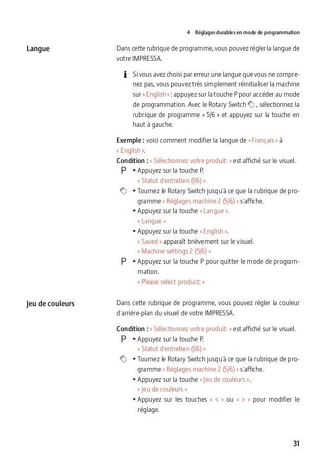4 Réglages durables en mode de programmation  Langue  Dans cette rubrique de programme, vous pouvez régler la langue de v...