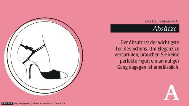 Das kleine Mode-ABC  Absätze  Der Absatz ist der wichtigste  Teil des Schuhs. Um Eleganz zu  versprühen, brauchen Sie kein...
