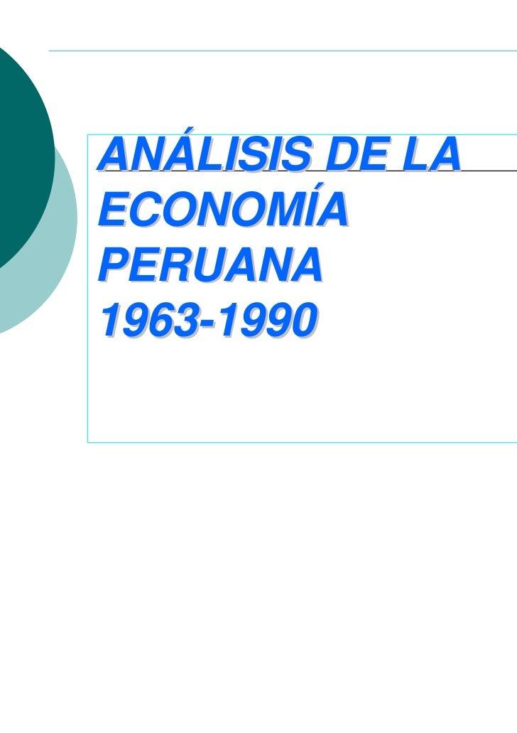 ANÁLISIS DE LAECONOMÍAPERUANA1963-1990