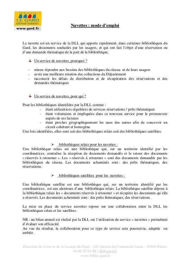 Direction du Livre et de la Lecture du Gard - 225 chemin du Carreau de Lanes - 30900 Nîmes 04 66 23 01 88 / dll@gard.fr ww...