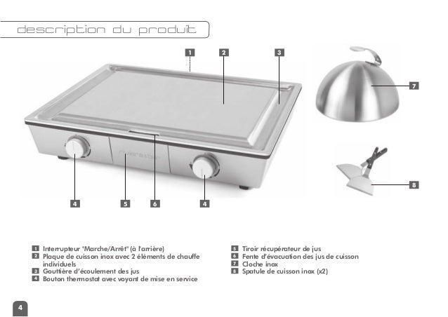 mode d 39 emploi teppanyaki pro riviera et bar qpl 830. Black Bedroom Furniture Sets. Home Design Ideas