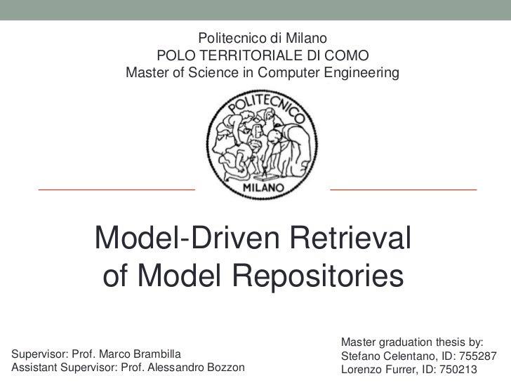 Politecnico di Milano                         POLO TERRITORIALE DI COMO                     Master of Science in Computer ...