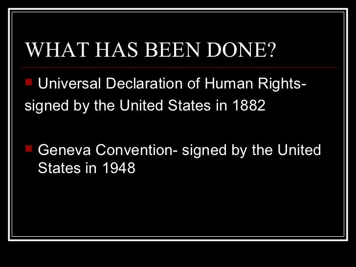 the reason why countries signed the universal declaration of human rights United nations representatives from all regions of the world formally adopted the universal declaration of human rights on december 10, 1948 the charter of the united nations established six principal bodies, including the general assembly, the security council, the international court of justice, and in relation to human rights, an economic and social council (ecosoc.