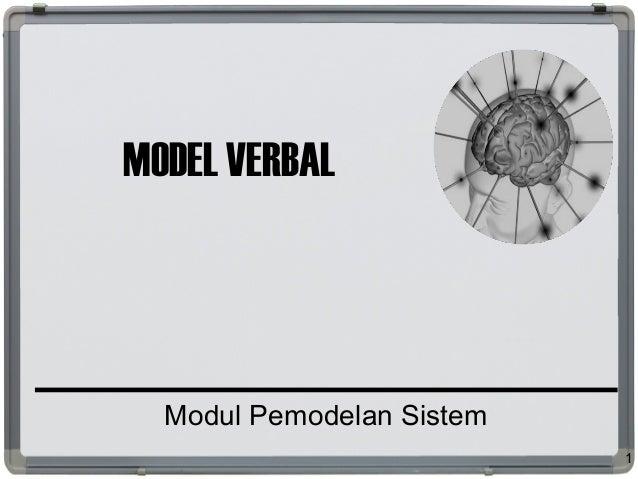 MODEL VERBAL Modul Pemodelan Sistem 1