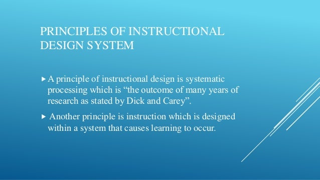 Instructional Design For Distance Education