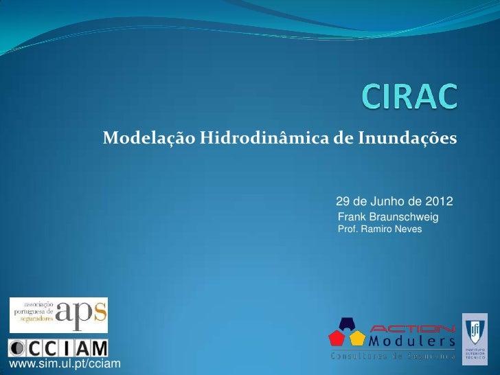 Modelação Hidrodinâmica de Inundações                                       29 de Junho de 2012                           ...