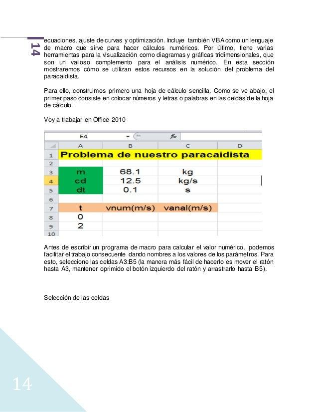 Modelación matemática y metodos núméricos (ugc) (1 2017)
