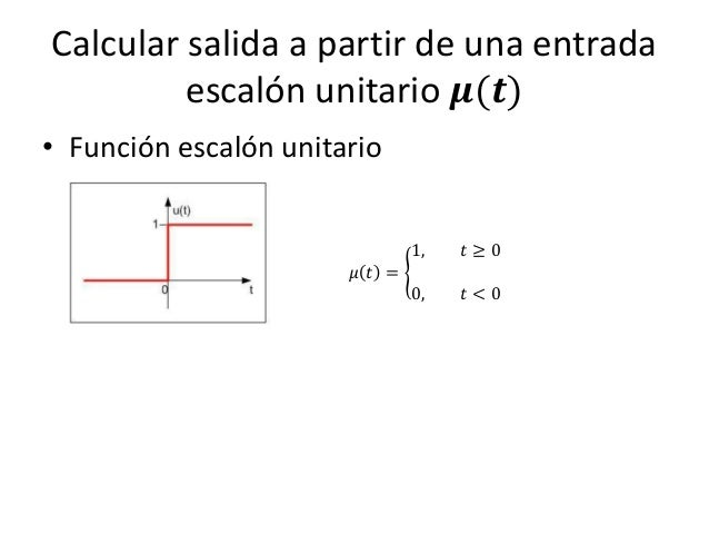 Modelado de circuitos con ed de orden superior for Funcion de salida