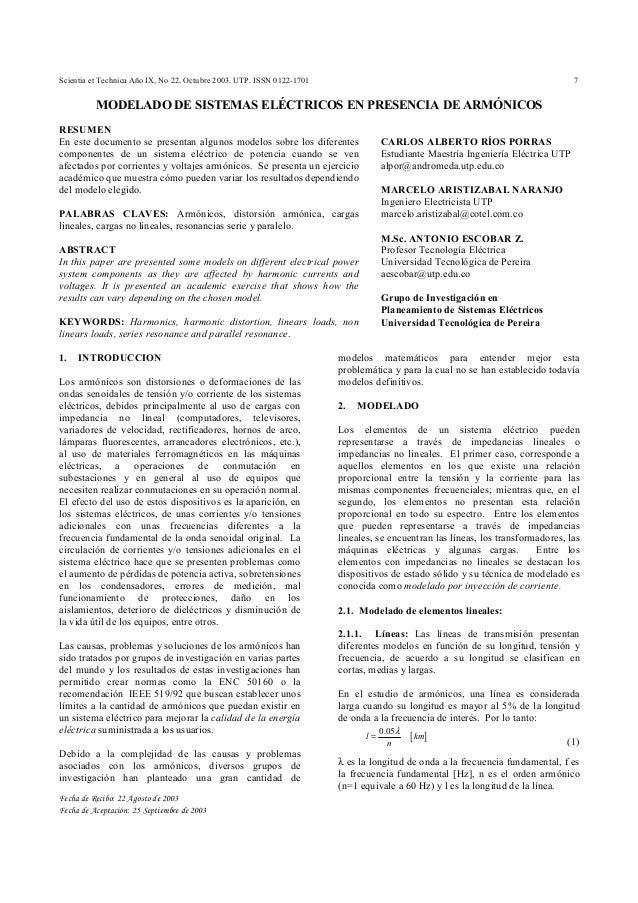 Scientia et Technica Año IX, No 22, Octubre 2003. UTP. ISSN 0122-1701 7 Fecha de Recibo: 22 Agosto de 2003 Fecha de Acepta...