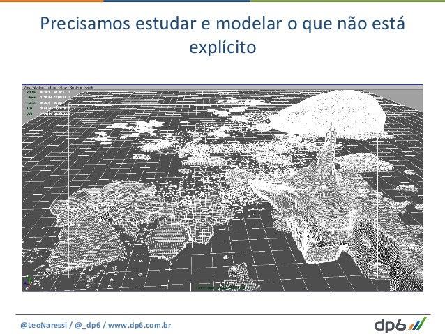 Precisamos  estudar  e  modelar  o  que  não  está   explícito   @LeoNaressi  /  @_dp6  /  www.d...