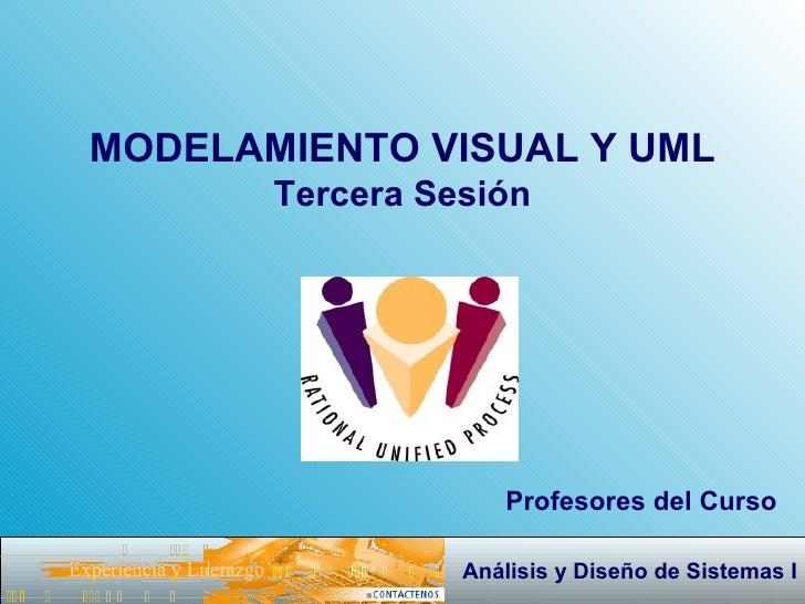 MODELAMIENTO VISUAL Y UML Tercera Sesión Profesores del Curso