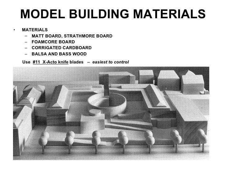 Architectural model building for Waste material model making