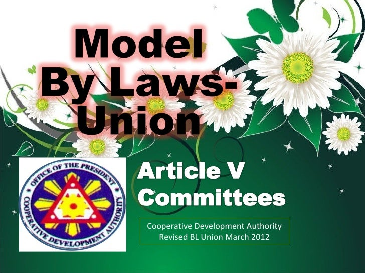 Cooperative Development Authority   Revised BL Union March 2012
