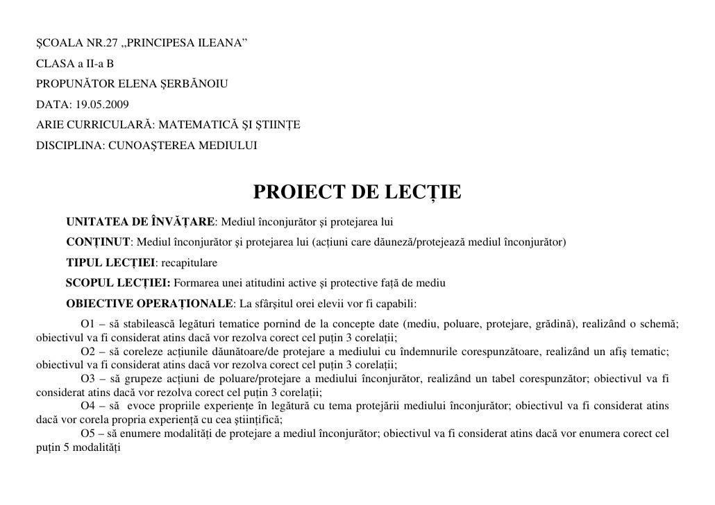 """ŞCOALA NR.27 ,,PRINCIPESA ILEANA"""" CLASA a II-a B PROPUNĂTOR ELENA ŞERBĂNOIU DATA: 19.05.2009 ARIE CURRICULARĂ: MATEMATICĂ ..."""
