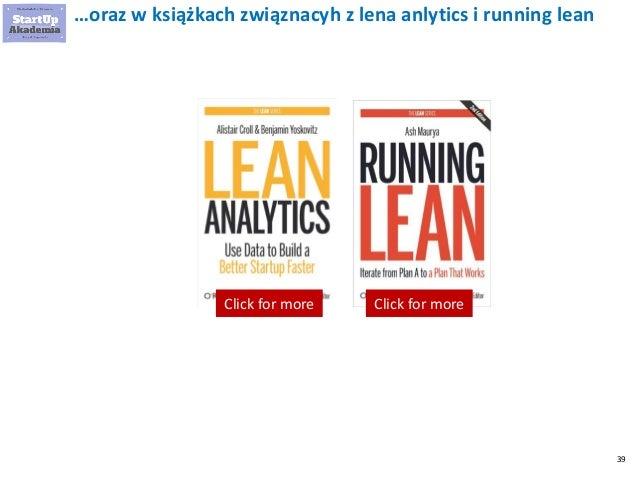 39 …oraz w książkach związnacyh z lena anlytics i running lean Click for moreClick for more