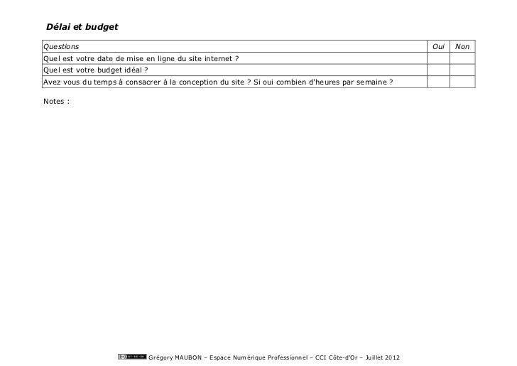 Délai et budgetQuestions                                                                                                  ...