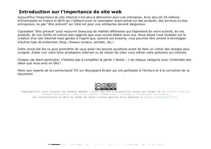 Introduction sur limportance de site webAujourdhui limportance du site internet nest plus à démontrer pour une entreprise....
