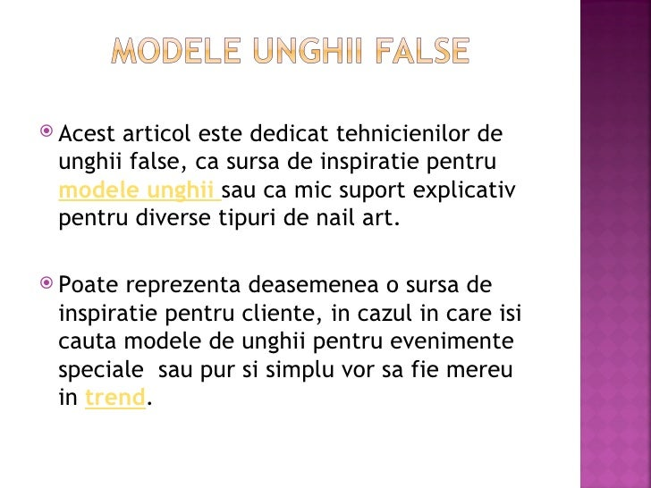 Modele unghii false Slide 2