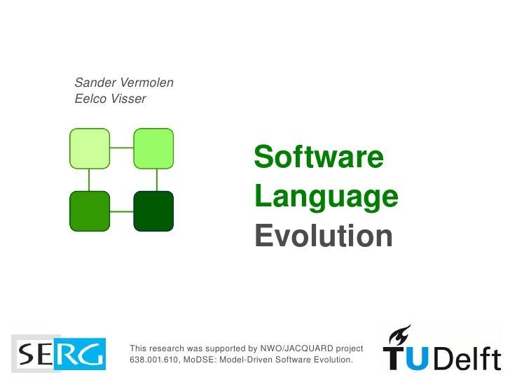 Software Language Evolution