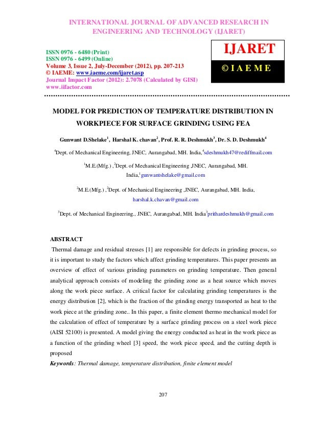 International Journal of Advanced Research in Engineering and TechnologyRESEARCH IN –          INTERNATIONAL JOURNAL OF AD...