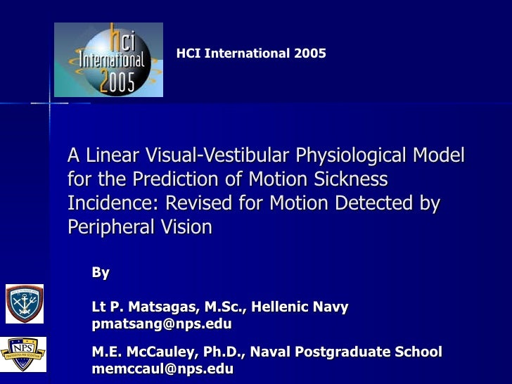 A Linear Visual-Vestibular Physiological Model for the Prediction of Motion Sickness Incidence: Revised for Motion Detecte...