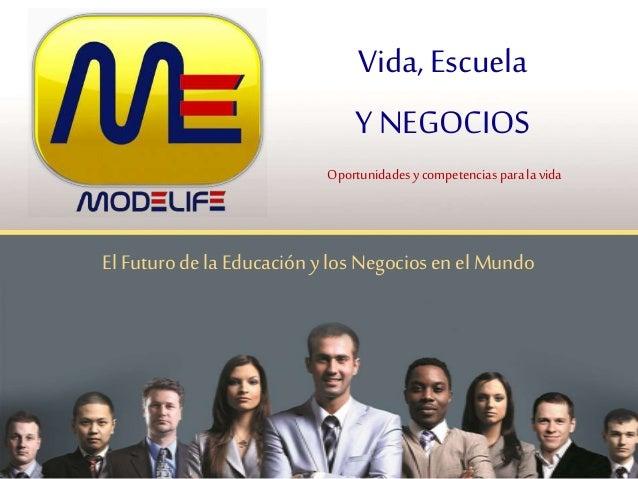 ElFuturodela Educación y los Negociosen elMundo Vida, Escuela Y NEGOCIOS Oportunidadesycompetencias paralavida