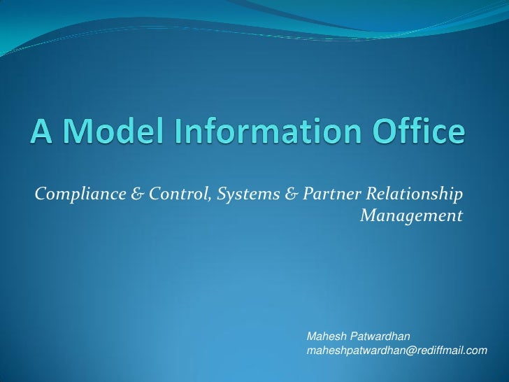 Compliance & Control, Systems & Partner Relationship                                        Management                    ...