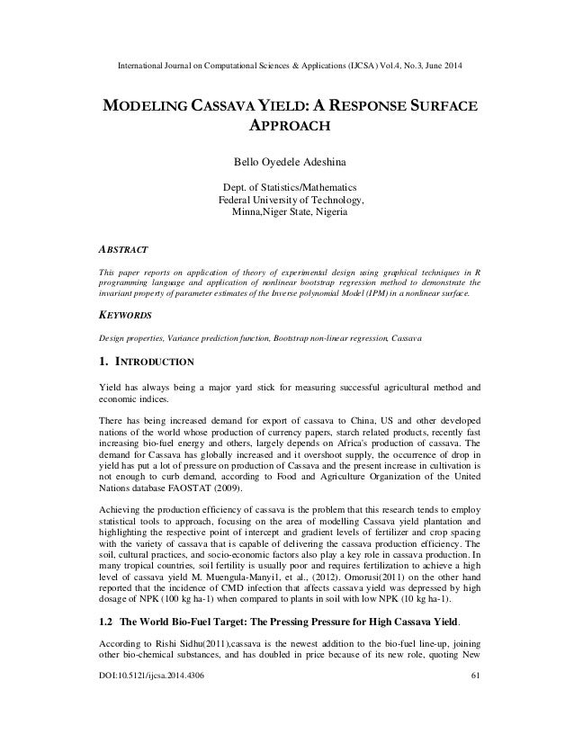 International Journal on Computational Sciences & Applications (IJCSA) Vol.4, No.3, June 2014 DOI:10.5121/ijcsa.2014.4306 ...