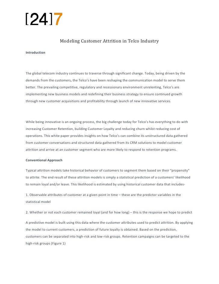 Modeling Customer Attrition in Telco IndustryIntroductionThe global telecom industry continues to traverse through signifi...