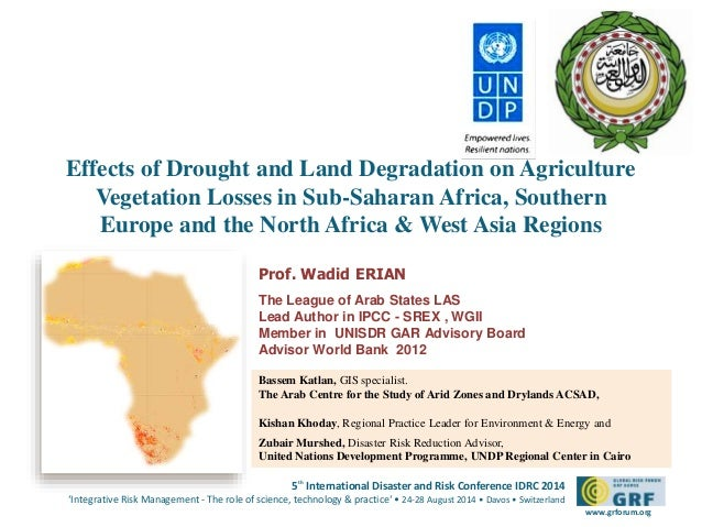 Effects of Drought and Land Degradation on Agriculture  Vegetation Losses in Sub-Saharan Africa, Southern  Europe and the ...